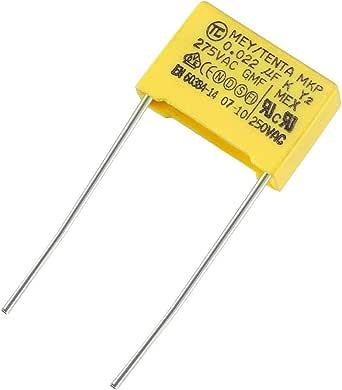 Sourcing Map Sicherheitskondensator Polypropylenfolie 0 022 Uf 275 Vac X2 Mkp Beleuchtung