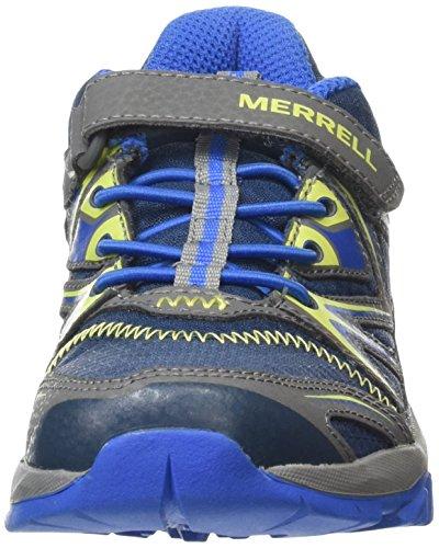 Merrell Capra Bolt Low A/C Jungen Trekking- & Wanderhalbschuhe Mehrfarbig (NAVY/CITRON)
