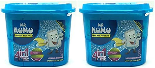 Mr Nomo Moisture Absorber 4 in1 Power Pack - 300 g Lavender (Pack of 2)