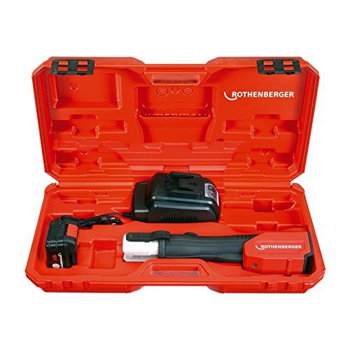 Preisvergleich Produktbild Rothenberger ROMAX 3000 Basic Set, elektrohydraulische Pressmaschine mit 2x Akku 18V/3Ah 1000000209