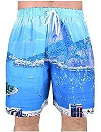 Big Mens Brooklyn Bay Scenes Chill Swim Shorts 2XL 3XL 4XL 5XL 6XL