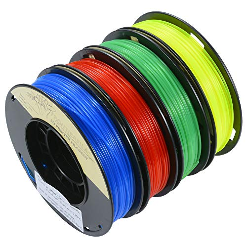 PLA 1.75mm 4x250g transparente azul/rojo/amarillo/verde - Filamento para impresora 3D - FrontierFila