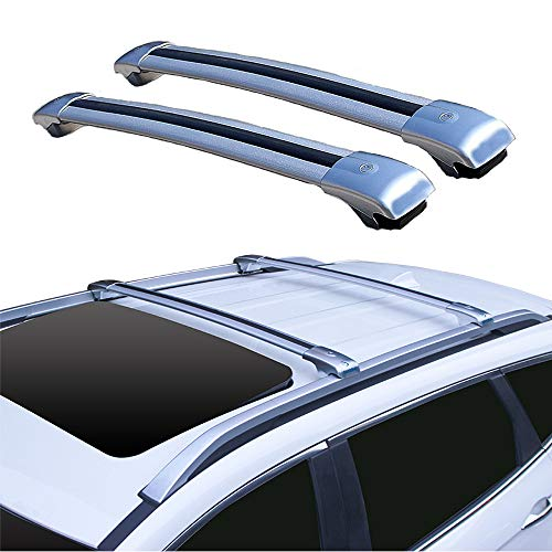 OLDF Dachrack-Rail-Kreuz-Bar, Gepäck Cargo Carrier Rack für alle Modelle, Anti-Thief Lock Manganese Stahl + Aluminum Alloy Land Cruiser, Cherokee Roof Shelf,Landcruiser -