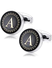Yellow Chimes Exclusive Collection Alphabet Letters Stainless Steel Statement Cufflinks for Men
