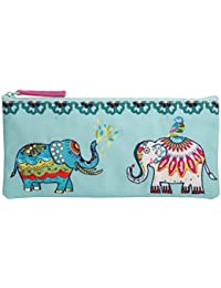 Pinaken Canvas Utility Pencil Pouch Cosmetic Makeup Bag