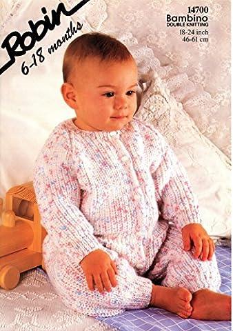 Knitting Pattern Robin 14700 Double Knit 46-61cms 18-24