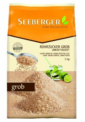 Seeberger Rohrzucker grob, unraffiniert, 5 er Pack (5 x 1 kg Packung)