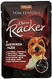 animonda Vom Feinsten Kleiner Racker Nassfutter, für ausgewachsene Hunde von 1-6 Jahren, mit Kalbsherzen und Pilzen, 16er Pack (16 x 85 g)