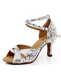 XIE Zapatos de mujer PU Salón de baile Latín Taogo Danza Suela blanda Bombas Sandalias Tamaño 35 a 41, EU38