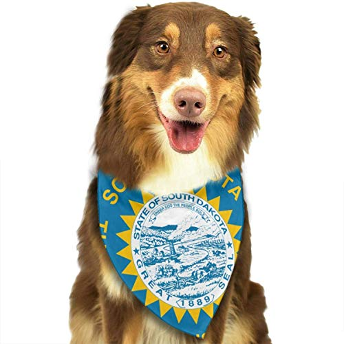 Flagge von South Dakota Halstuch/Coo Dog Cat Scarf