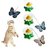KatzenSpielzeug,Dairyshop Elektrischer drehender Schmetterlings Katzen Rod Lustige Haustier-Katze Spielwaren Kätzchen Spielzeug, Plastik, Stahldraht, 1 PC