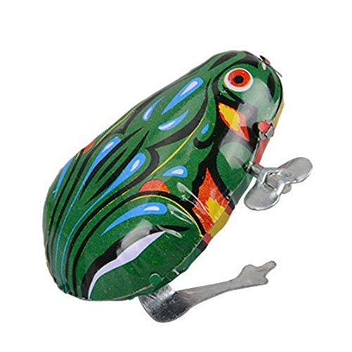 Retro Frosch Spielzeug Tin Uhrwerk Kinder Lernspielzeug