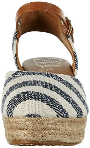 Wrangler Bella Stripes, Sandales  Bout ouvert femme Blau (NAVY/OFF WHITE)