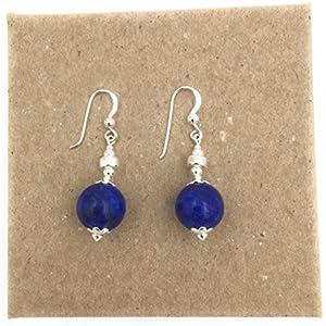 Ohrringe aus Silber und lapis