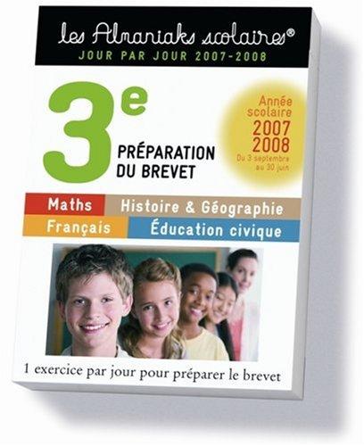 Préparation du Brevet - 3e 2007-2008
