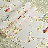 papel pintado no tejido restaurantes/Mi oriental mediterránea wallpapers/De los niños habitaciones sala de estar sofá configuración de fondos de pantalla de pájaro American pastoral/[papel pintado no tejido del restaurante]-F