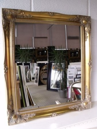 Frames by Post Gold 76,2x 66cm (76cmx86cm) groß hairdressors Salon Spiegel Classic Rahmen Antik-Design, Shabby Chic über Mantel Big Wandspiegel -