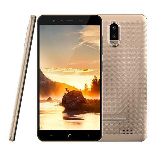 "4G Smartphone ohne Vertrag Leagoo Z7 Dual SIM Handy Mobiltelefon 5,0\"" Bildschirm FWVGA Display Dreifachkameras Flash LED 3000mAh Akku Android 7.0 RAM Bluetooth WiFi GPS Günstiges Telefon (Gold)"