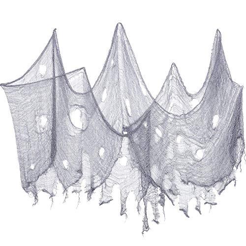 Tian 2 Pack Halloween Grau Gruselig Tuch Dekoration Scary Spooky Gaze für Halloween Party Spukhaus Dekorationen