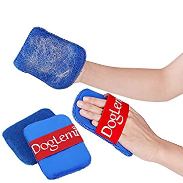 2Pcs Pet Hair Remover Dog Cat Cleaning Hair Mitts Doggies Grooming Gloves Fur Magic Lint Brush for Furniture Clothes Bedding Sofa Carpet Car Seat Sticky Hair Mitts Gentle Pet Hair Removal Towel Cloth