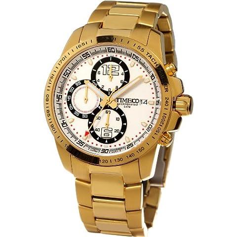Time W70014G.03A - Reloj para hombres, correa de acero inoxidable color dorado