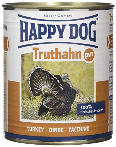 Happy Dog Cibo Umido per Cane Ipoallergenico Pure Turkey (Truthahn Pur) - 800 gr