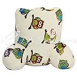 Daunex - Cuscino da Lettura GUFI, sostegno per la schiena da letto, divano o poltrona, cm 60x45x30 - Originale Morbidotto