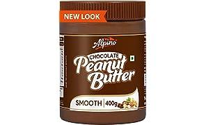 Alpino Chocolate Peanut Butter Smooth 400 G (Gluten Free / Non-GMO / Vegan)