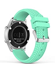 MoKo Samsung Gear S3 Frontier / Classic Watch Armband - Silikon Sportarmband Uhr Band Strap Erstatzband Uhrenarmband für Samsung Gear S3 Classic Samrtwatch, Mint Grün (Nicht für Gear S2 Classic)