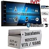 Mercedes Vito/Viano 639 - Autoradio Radio JVC KW-M24BT - 2-DIN Bluetooth MP3 USB Autoradio TFT Touch - Einbauzubehör - Einbauset