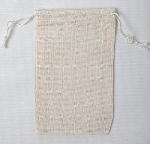 Bolsos muselina algodón 7.5x12 Cm Doble Drawstring