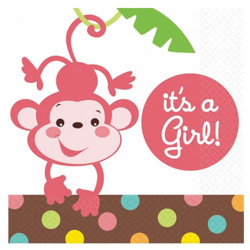 "Fisher Price-«It ""s a Girl 16ct International Serviettes en Papier"