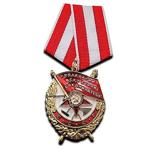 Orden des Roten Banner Erste sowjet Militär Dekoration Russische Medaille UdSSR Repro