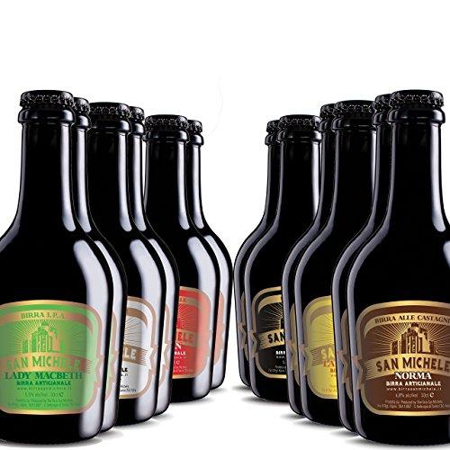 Scatola 12x0,33L - Birra Artigianale San Michele - Selezione assortimento 6 diversi stili