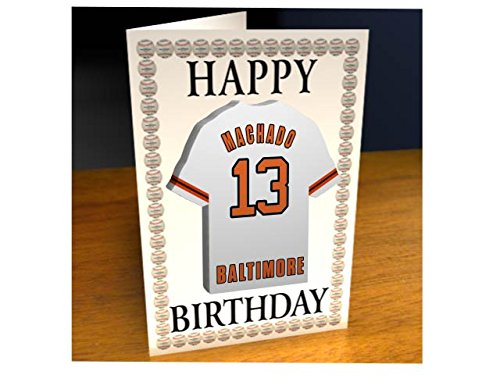 Baltimore Orioles-magnet (Geburtstagskarten mit Basketballshirt-Kühlschrank Magnet – Jeder Name, jede Zahl, jedes Team!, Herren damen Kinder, Baltimore Orioles MLB Fridge Magnet Card)