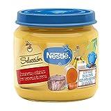 Nestlé Selección puré de verduras y carne, variedad Zanahoria y Calabaza con Ternera - Para bebés a partir de 6 meses - Paquete de 6 Tarritos de 190g
