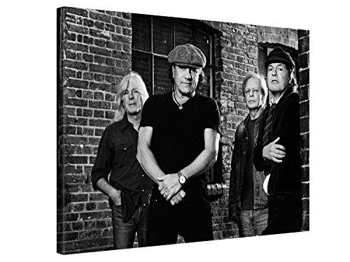 Ufficiale AC/DC® Larga stampa su tela per decorazione murale - BAND MEMBERS - 40x30cm Immagine su tela su telaio in legno - Stampa su tela Giclée - Arazzo decorazione murale