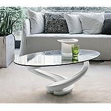 Amazon.it: tavolini cristallo salotto - Bianco