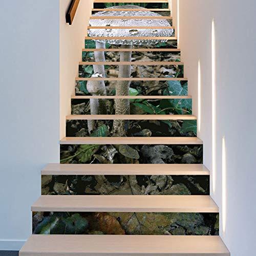 Wallpaper FANGQIAO SHOP Treppe Aufkleber, kreative Pilz nach Hause abnehmbare Schritt Aufkleber Aufkleber Tapete Wandbilder Kunst Dekor Wandtuch (Halloween-schritt Für Schritt Handwerk)