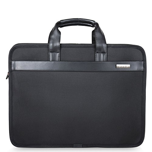 Freebiz 17-Zoll-Laptop-Beutel-Organisator Aktentasche Wasserdichte Laptop-Tasche mit Widen Passend zu 17,3 Zoll bis Gaming-Laptop für Macbook Pro Retina, Asus, Dell, HP, Samsung (17-17,3 Zoll, Schwarz) (Macbook Pro Retina Laptop 17)