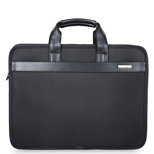 Freebiz 17-Zoll-Laptop-Beutel-Organisator Aktentasche Wasserdichte Laptop-Tasche mit Widen Passend zu 17,3 Zoll bis Gaming-Laptop für Macbook Pro Retina, Asus, Dell, HP, Samsung (17-17,3 Zoll, Schwarz)
