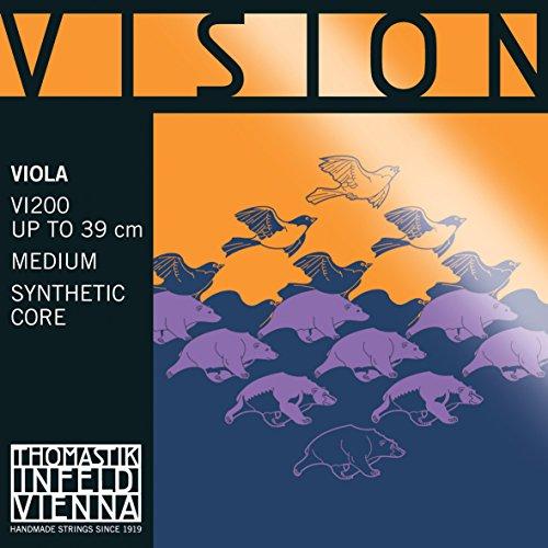 Thomastik 637856 Saiten für Viola Vision Synthetic Core, Satz 4/4 mittel