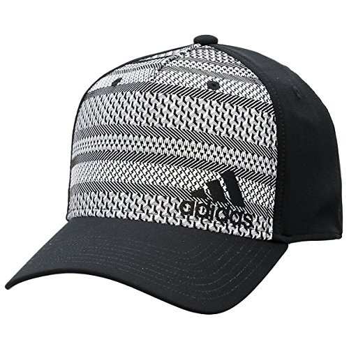 adidas Herren Weave Stretch Fit Cap, Herren, schwarz/weiß, L/XL Adidas Stretch Hat