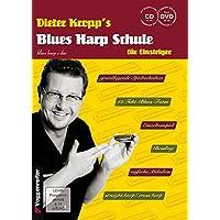 Blues Harp Schule m. CD und DVD - Mundharmonika spielen für Einsteiger/grundlegende Spieltechniken/von einfachen Melodien über erdigen Blues bis zum Bending