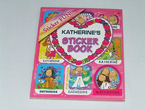 Pink Buch der Aufkleber nach der Name personalisiert Katherine 6verschiedene Stile 9Blatt 9Aufkleber pro Blatt (kann nicht auf jede andere Namen personalisiert werden)