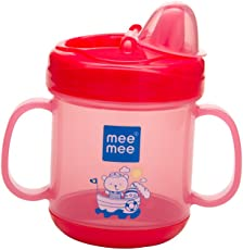 Mee Mee No Spill Sipper Cup with Double Handle,180ml (Pink)