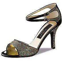 Nueva Epoca–Mujer Tango/Salsa Zapatos de baile Cecilia–Multicolor/Negro–8cm, multicolor, UK 3   EUR 36