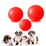 Esoes Classic Pet Products Gummiball – Hund Balls Pet Interaktives Spielzeug – Red Dog Training Bouncy Ball Kauen Spielen Fetch Bite Toys Pet Training Spiel Ball