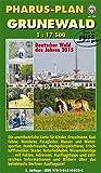 Pharus-Plan Grunewald (1:17.500): 20 Grüne Hauptwege durch Berlin. Karte für Kinder, Erwachsene, Radfahrer, Wanderer ...