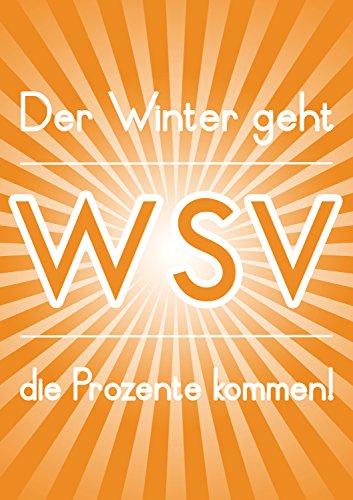Poster Plakat Der Winter geht - WSV in Orange DIN A1 2Stk. im Kundenstopper Sparset